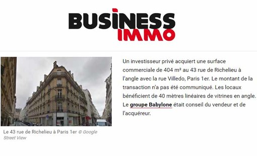 Business immo richelieu