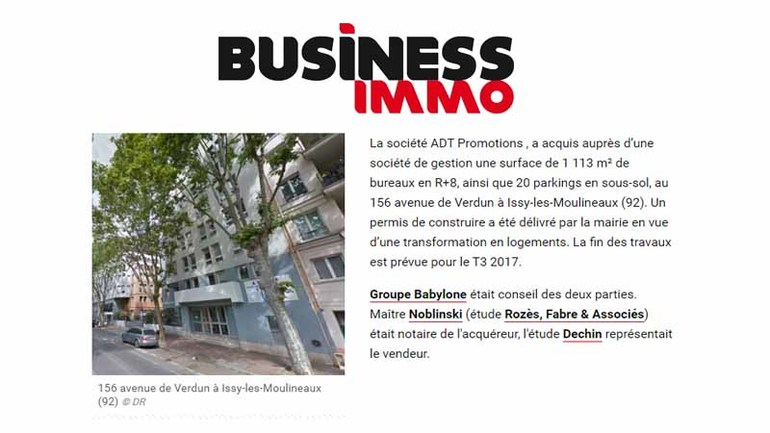 Business immo issy les moulineaux